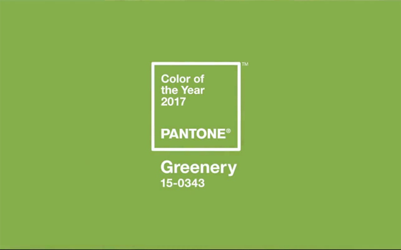 Color of the Year – Pantone Greenery 15-0343